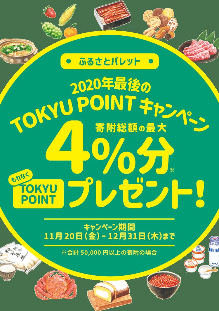 今年最後のTOKYU POINTキャンペーン 寄付総額の最大4%分もれなくTOKYU POINTプレゼント!
