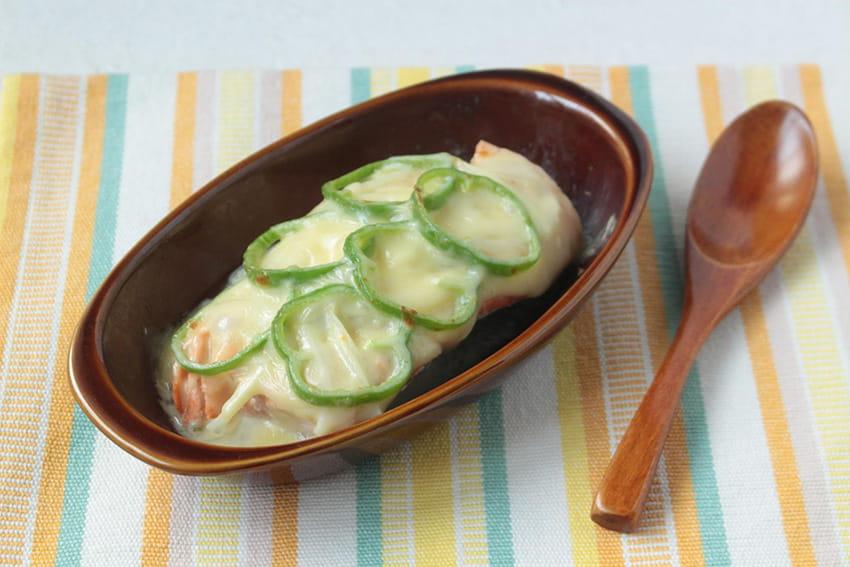 サーモンの香草チーズ焼き