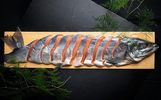 [Ka403-C245]本格熟成 北海道産・秋鮭山漬(厚切切身)1尾分約2.0kg