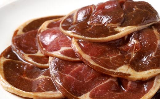 [Ta505-C102]真心お肉屋さんのうめぇ~ジンギスカン ひつじの誘惑 味付ラム肉(ロール)300g×10 鍋セット