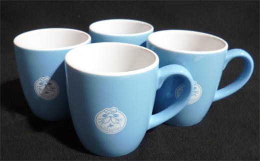 12-6 ゆるキャラ紋太グッズ(マグカップ[ブルー]4個)