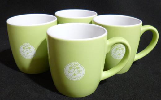 12-7 ゆるキャラ紋太グッズ(マグカップ[グリーン]4個)
