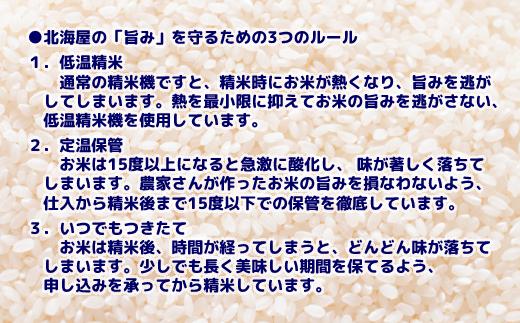 11-101 【新米予約】令和3年産 北海道産ななつぼし10kg(5kg×2袋) 【つきたてそのまま・低温精米】