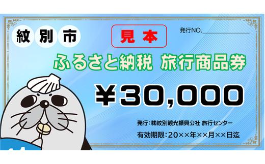 100-52 紋別市ふるさと納税旅行商品券 30,000円分