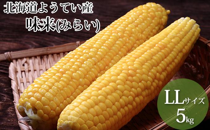 北海道ようてい産スイートコーン!【味来(みらい)】LL5kg