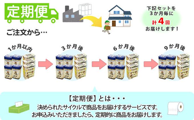 【定期便】3カ月毎 計4回 日本ハムファイターズ トイレットペーパー 48個 & 日本ハムファイターズ ティッシュ 15箱 セット まとめ買い 大容量 雑貨 日用品 生活用品 備蓄 箱 紙 ボックス 北海道 日本ハム ファイターズ グッズ 日ハム