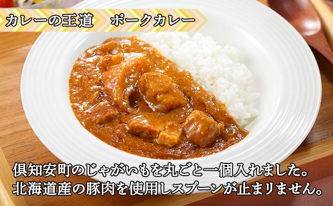 倶知安 ポークカレー 北海道 10個 中辛 レトルト食品 加工品 豚肉 野菜 じゃがいも お取り寄せ グルメ 倶知安町 保存食 スパイシー スパイス おかず