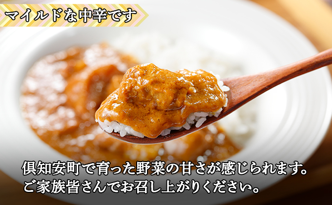 倶知安ポークカレー 北海道 3個 中辛 レトルト食品 加工品 豚肉 野菜 じゃがいも お取り寄せ グルメ 倶知安町 保存食 スパイシー スパイス おかず