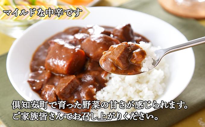 倶知安 ビーフカレー 北海道 10個 中辛 レトルト食品 加工品 牛肉 野菜 じゃがいも お取り寄せ グルメ 倶知安町 保存食 スパイシー スパイス おかず