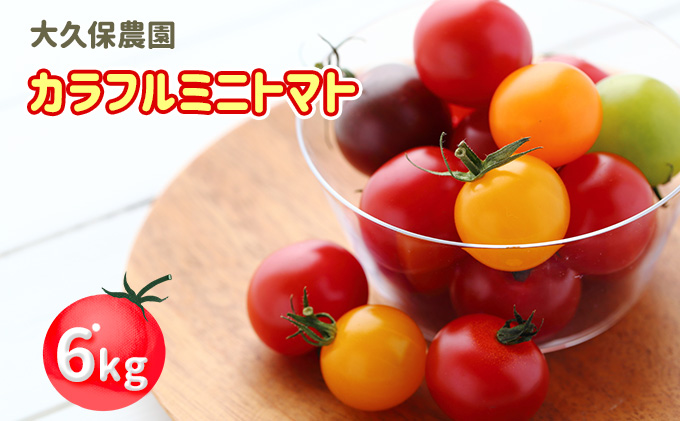 大久保農園の☆新鮮☆カラフルミニトマト詰合せ6kg