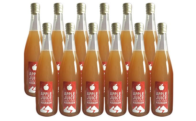 峠のふもと紅果園の完熟!リンゴジュース710ml×12本セット
