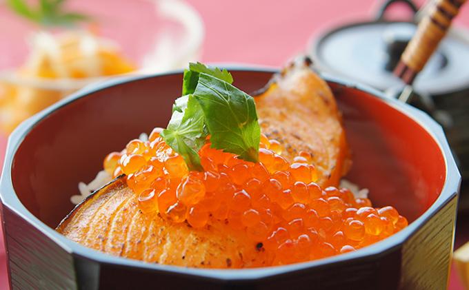 秋鮭といくらの親子丼セット