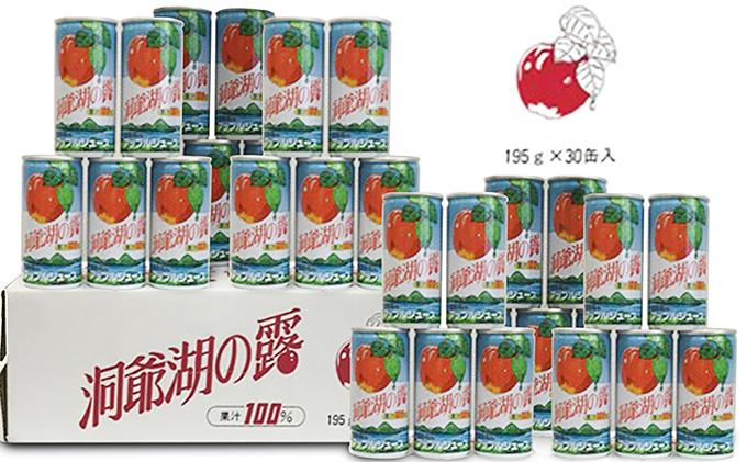 りんごジュース「洞爺湖の露」195g×30本