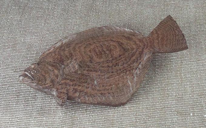 木彫 ヒラメ