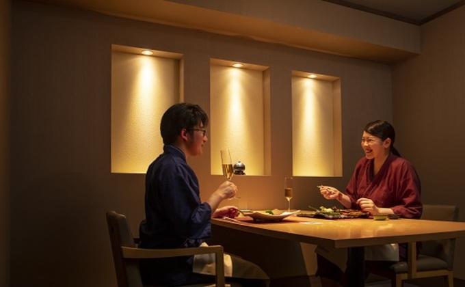 ザ レイクビュー TOYA 乃の風リゾート スパリゾート館ペア1泊2食付 特別和洋室(68平方メートル)個室会席プラン