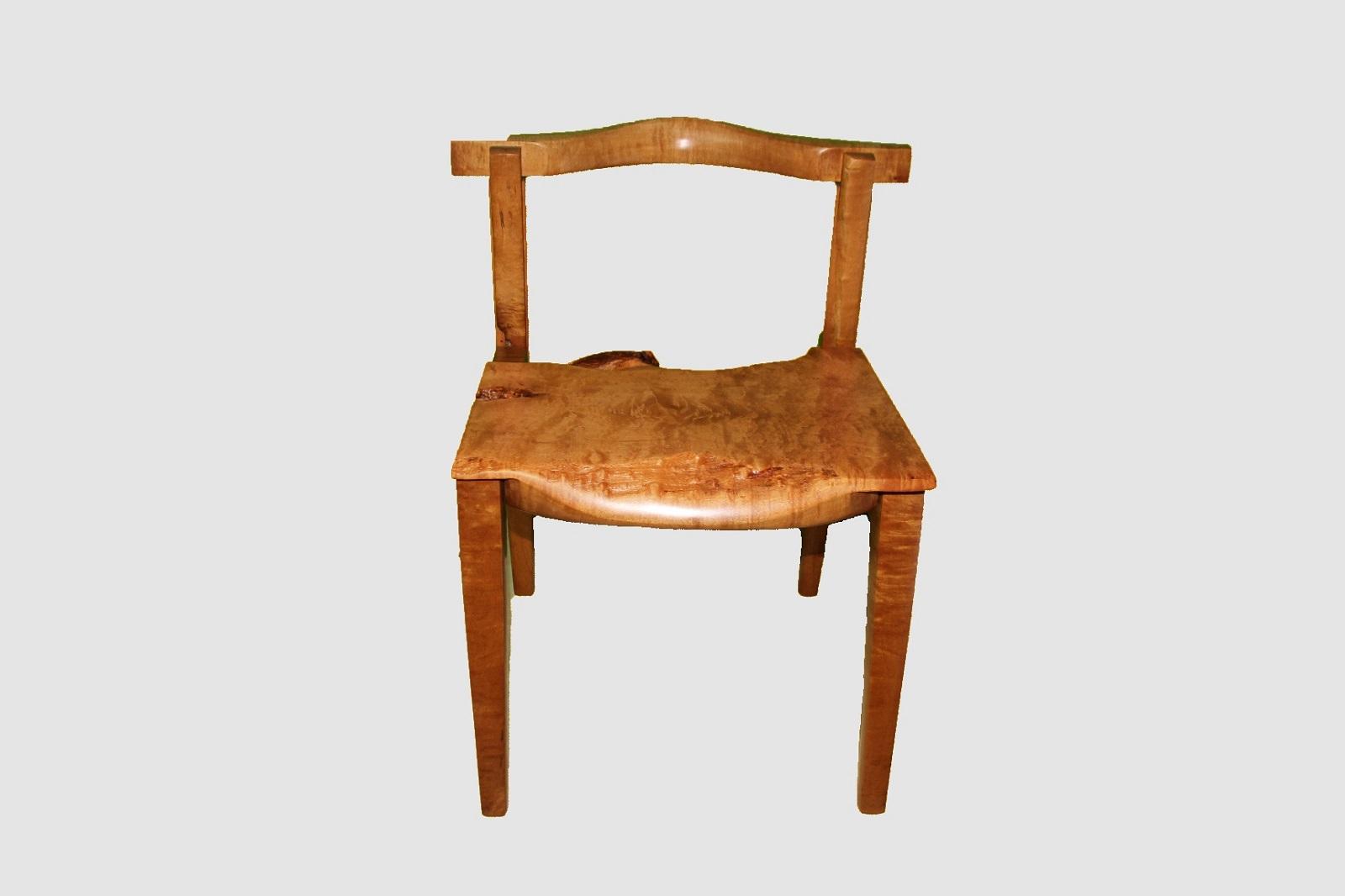 【59】椅子(イタヤ)【座面高約39.0cm】
