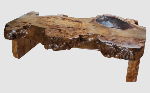 【23】座卓(テーブル)ニレ・一枚天板【厚さ約9.5cm】
