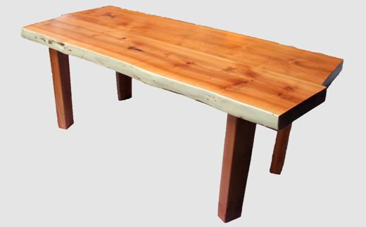 【33】座卓(テーブル)オンコ(イチイ)・一枚天板【厚さ約4cm】