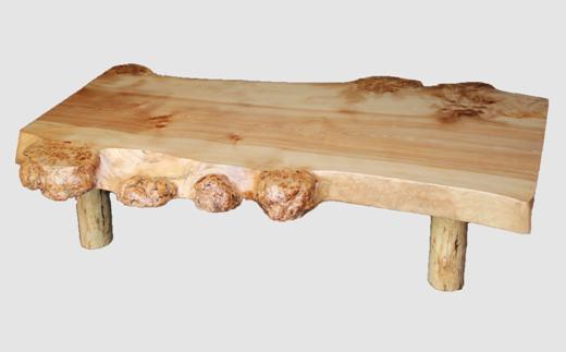 【05】座卓(テーブル)カバ・一枚天板【厚さ約6cm 27kg】