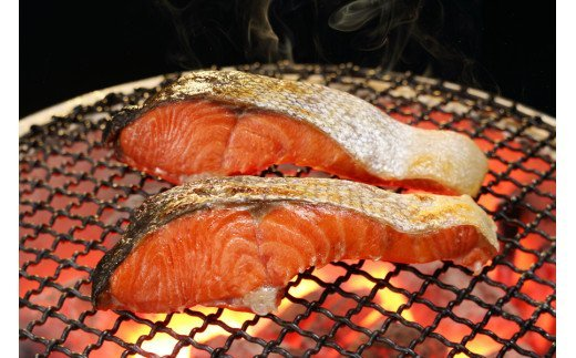 紅鮭 新巻姿切身【4分割 1.4kg】