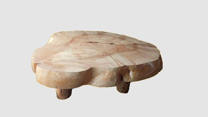 【51】座卓(テーブル)カバ(コブ)・一枚天板【厚さ約10.5cm】