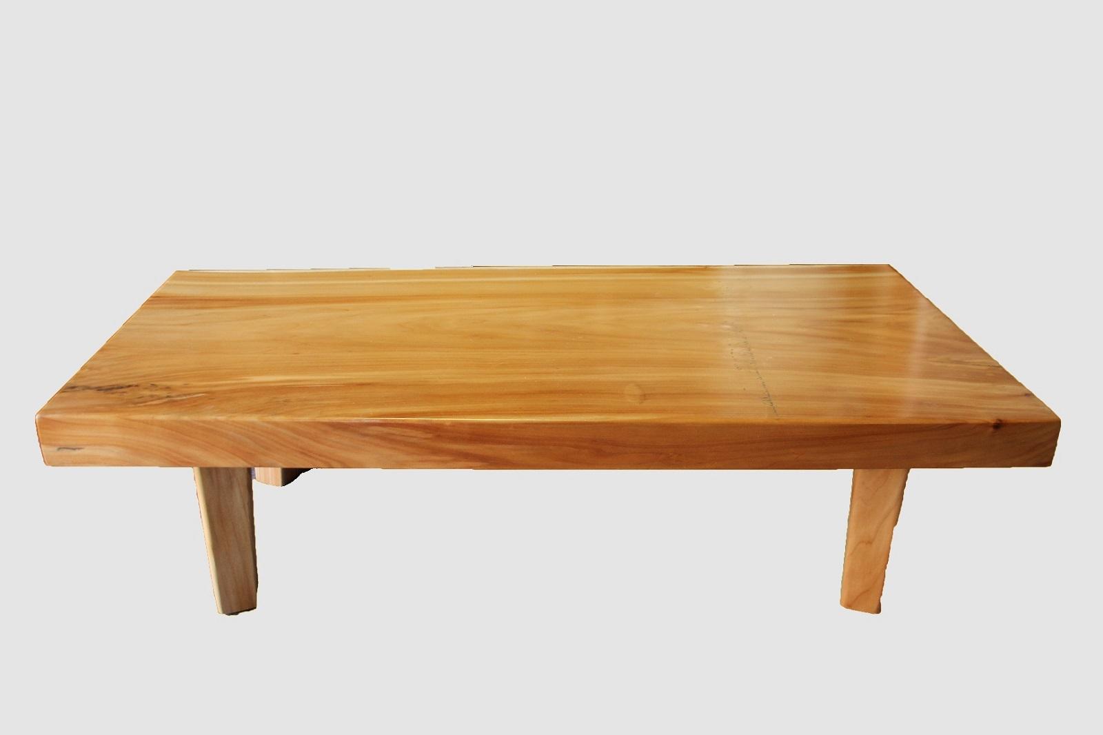 【53】座卓(テーブル)バッコヤナギ・一枚天板【厚さ約6.5cm】