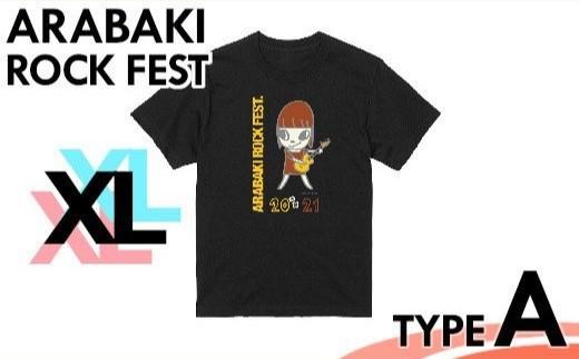 【04324-0149】ARABAKI ROCK FEST. オフィシャルTシャツA <ブラック:サイズXL>