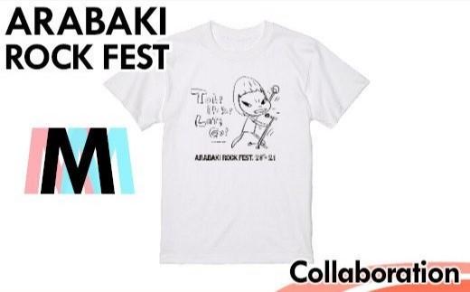 【04324-0152】ARABAKI ROCK FEST. コラボTシャツ <ホワイト:サイズM>