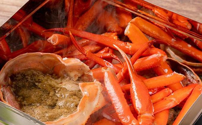 蟹缶 男鹿産紅ズワイガニのガンガン焼き (2ハイ/約1kg)