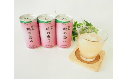 No.080 「福島桃の恵み」20本  果汁100%ジュース / モモジュース ストレート もも 福島県 特産品