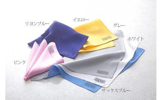 【高級国産シルク100%】 ポケットチーフ プレーン:ゴールド