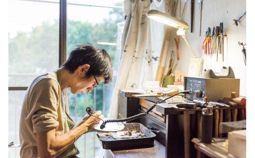 Kenichi Kondo 七宝じかん 七宝文字盤M(壁掛け時計セット)/白地に水色文字