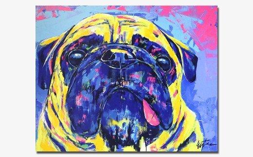 【愛犬アート】愛犬の写真を絵画にしませんか? DOG ART F40号 EIJI TAMURA DOG ART【フルオーダーメイド絵画】