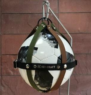 01 KEI-CRAFT ボールホルダー(カーキブラウン)