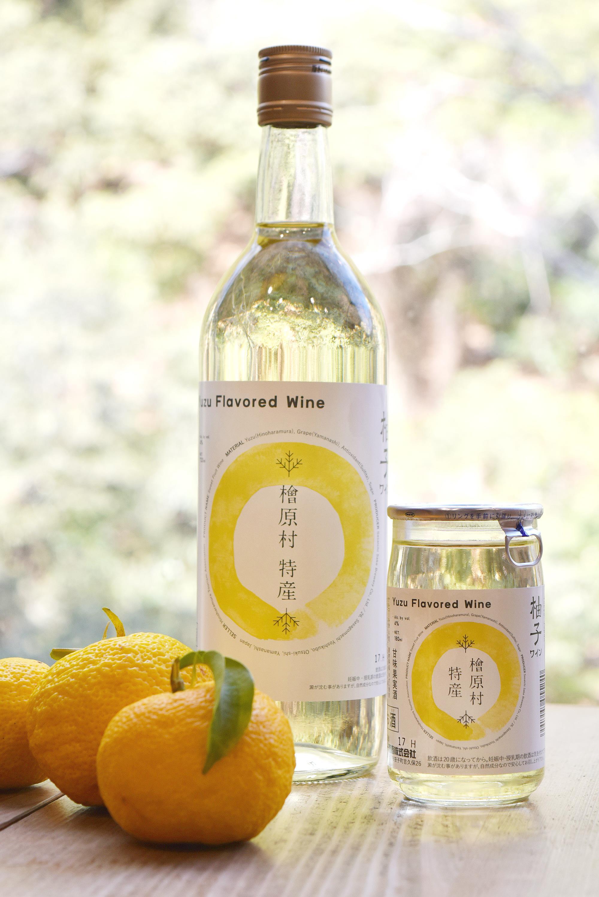 じゃがいも焼酎「HINOHARA」(720ml・1本)+ゆずワイン(720ml・1本)