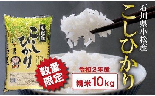 010137. 【数量限定】小松産こしひかり 精米10kg