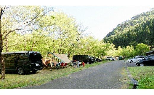013003. 西俣キャンプ場オートキャンプサイト(最大6人、AC電源完備)1泊利用券