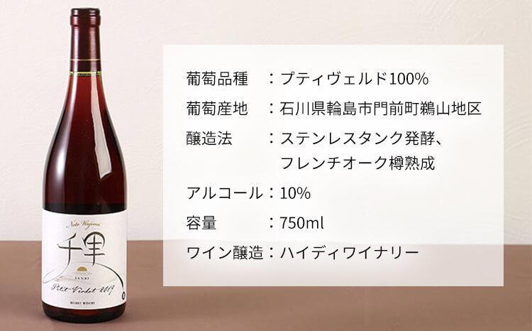 贈り物・ギフトにおススメ・輪島市「千里ワイン」(紅白セット)