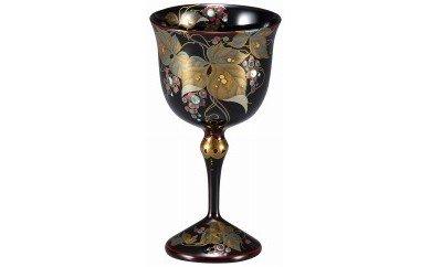 輪島塗 ワインカップ(葡萄蒔絵)