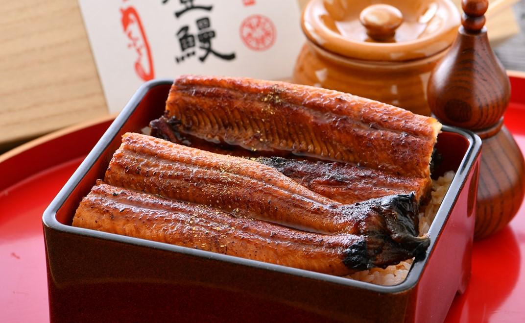 [H033] ミシュラン掲載の老舗料亭『まつお』の一本能登鰻「蒲焼・白焼」紅白セット