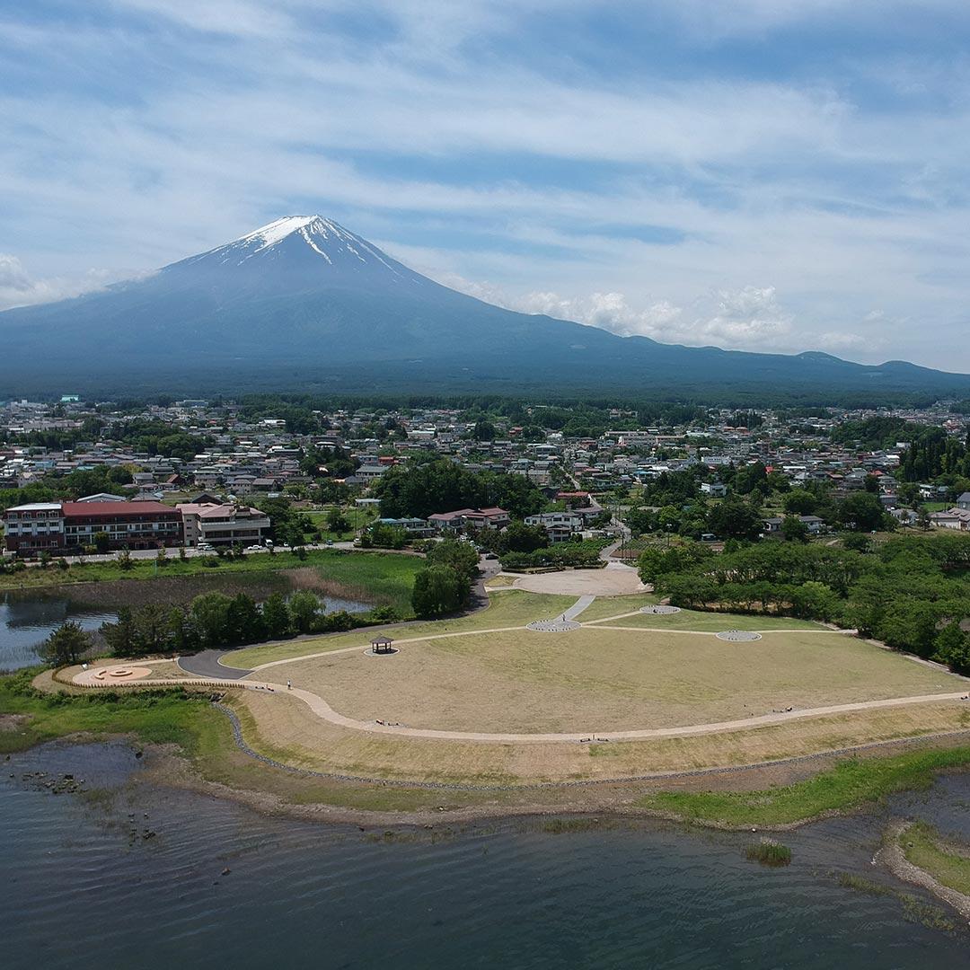 富士河口湖町の風景画像