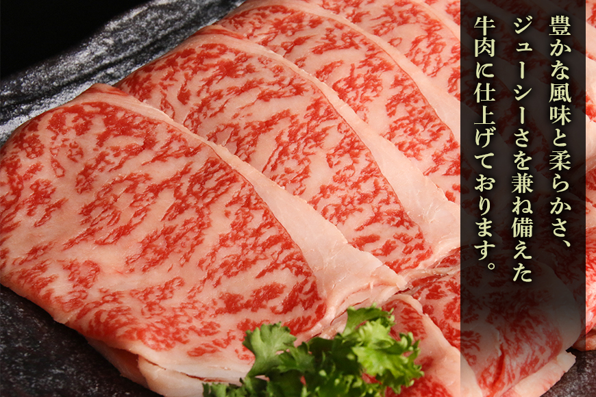 山梨県産富士山黒牛 肩ロースすき焼き用 550g