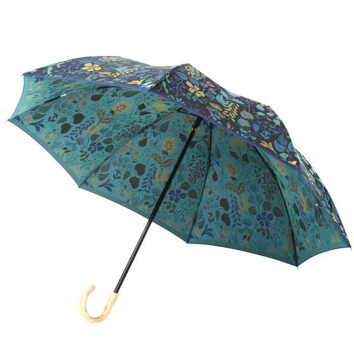 槙田商店 折りたたみ傘スティグリンドベリ【HERBARIUM】ブルー(ハーバリウム) 晴雨兼用