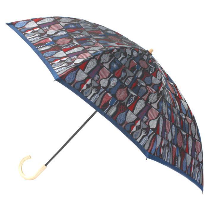 槙田商店 折りたたみ傘スティグリンドベリ【POTTERY】レッド(ポテリー) 晴雨兼用