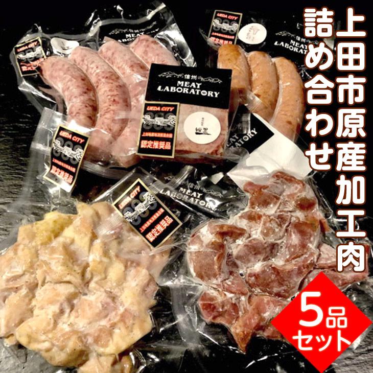 032-002 上田市原産 加工肉 詰め合わせ 5品セット