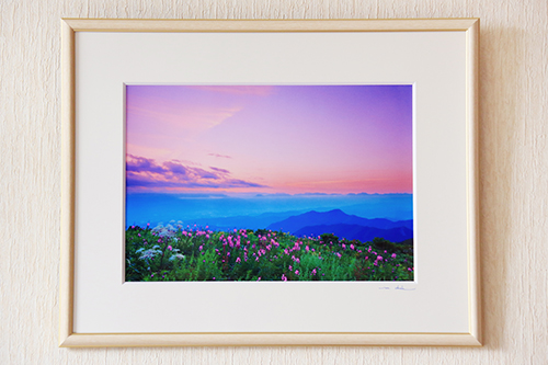 030-012信州上田癒しの風景 写真家岡田光司 A4サイズ額付きオリジナルプリント