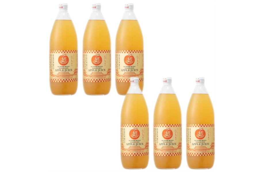 018-026真田REDアップルジュース・瓶(6本セット)