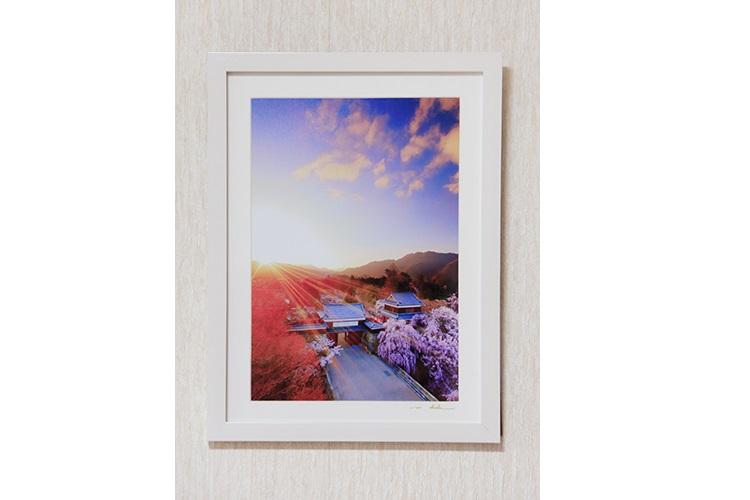 014-013信州上田癒しの風景 写真家岡田光司 2Lサイズ額付きオリジナルプリント