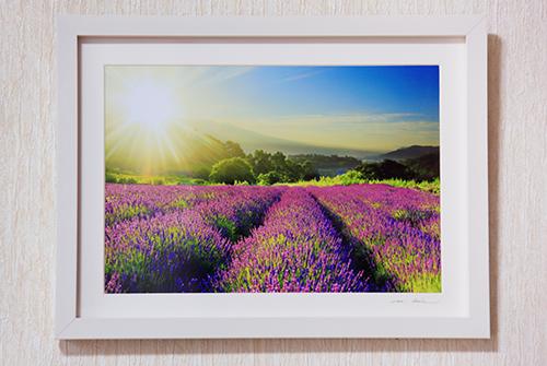 080-008信州上田癒しの風景 写真家岡田光司 W4切サイズ額付きオリジナルプリント