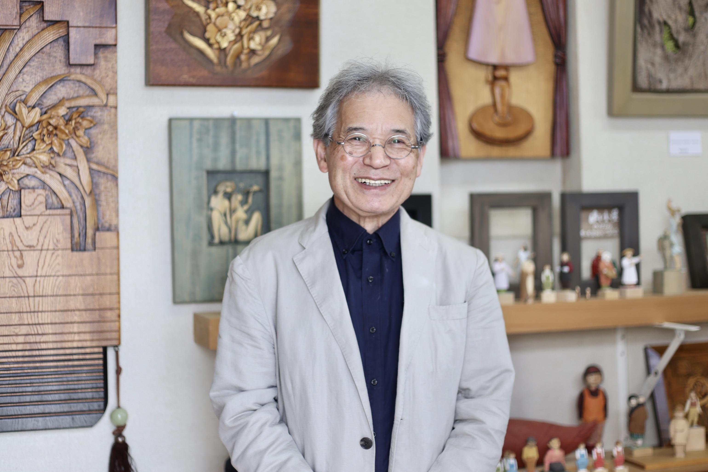 長野県農民美術連合会会長 木彫師 徳武忠造さん